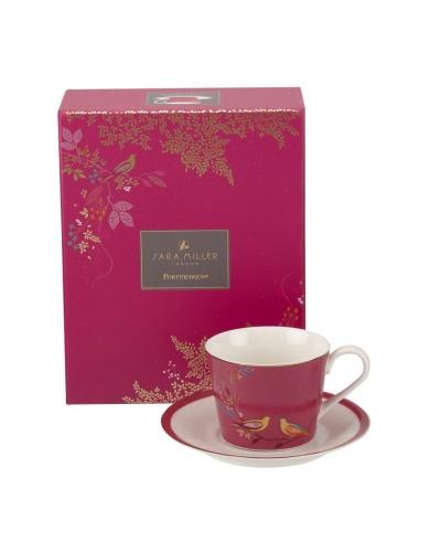 Чашка с блюдцем CHELSEA (розовая)